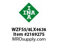 INA WZFS5/8LX4636 Linear fast shaft precision