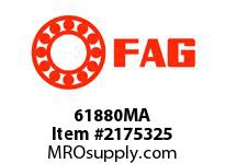 FAG 61880MA RADIAL DEEP GROOVE BALL BEARINGS
