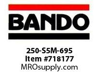 Bando 250-S5M-695 SYNCHRO-LINK STS TIMING BELT NUMBER OF TEETH: 139 WIDTH: 25 MILLIMETER