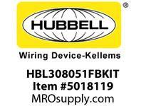 HBL_WDK HBL308051FBKIT BLACK FT POB WITH SEC100BA AND HBL3051