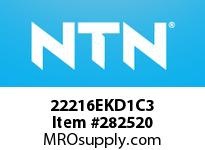 NTN 22216EKD1C3 SPHERICAL ROLLER BRG D<=203.2