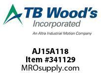 TBWOODS AJ15A118 AJ15-AX1 1/8 FF COUP HUB